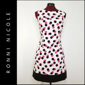 Ronni Nicole Woman Sleeveless Polka Dot Dress 10P